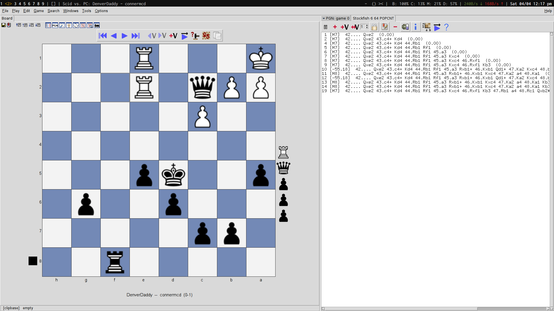 Studying chess on linux